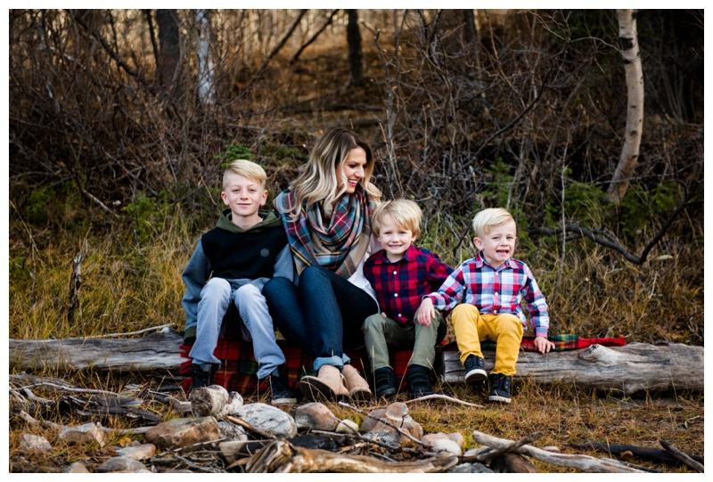Mom & Sons Family Photos Calgary