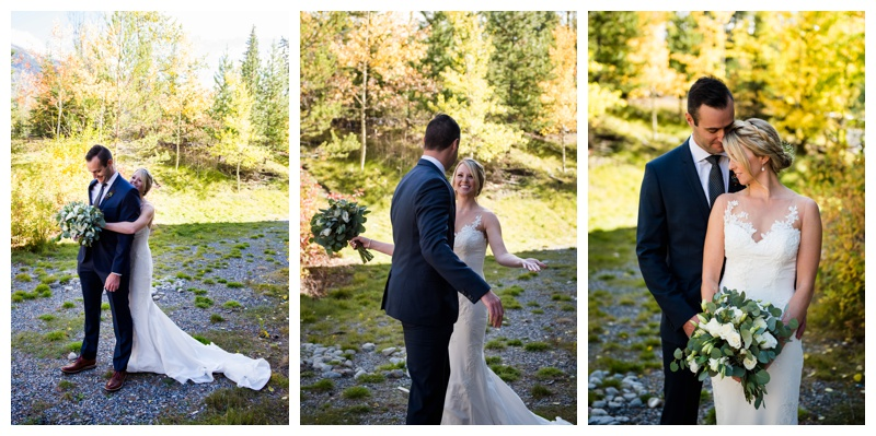 Canmore Wedding - First Look Photography