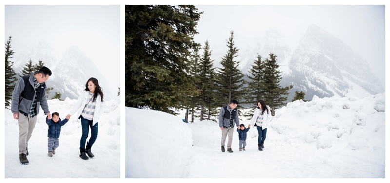 Winter Family Photography Lake Louise