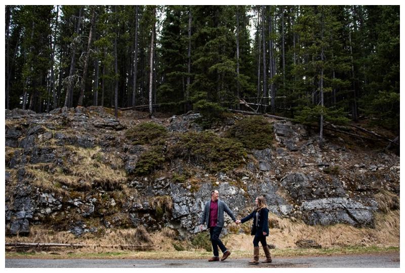 Lake Minniwanka Engagement Photo