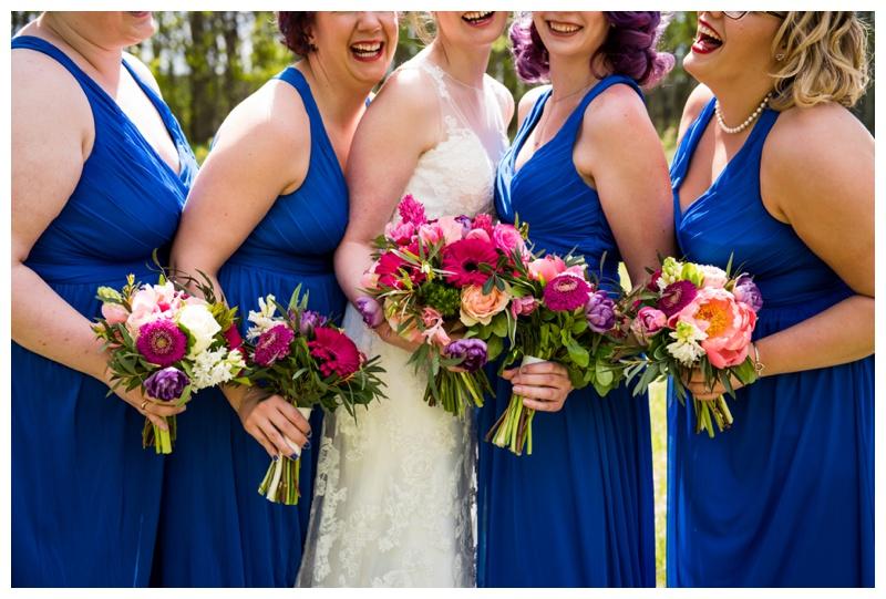 Blue Bridesmaid Dresses- Calgary Wedding