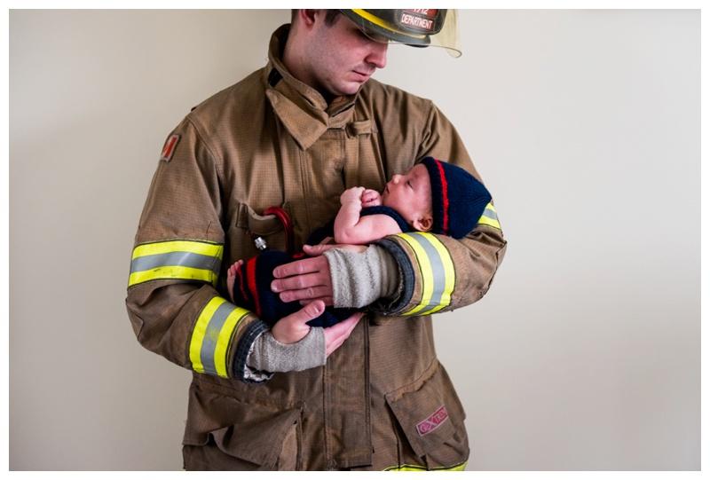 Calgary Firefighter Newborn Photography
