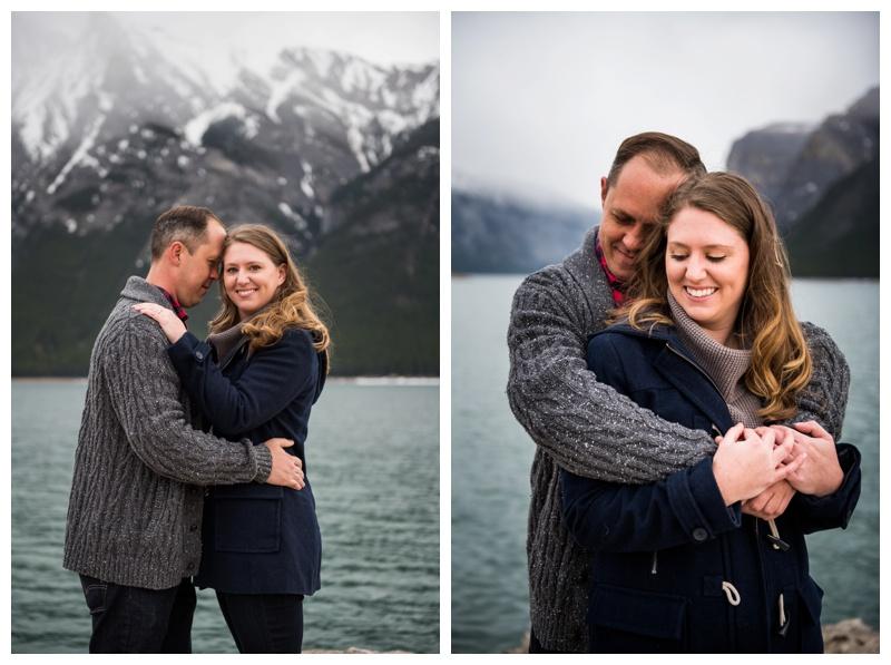 Lake Minniwanka Engagement Photographer