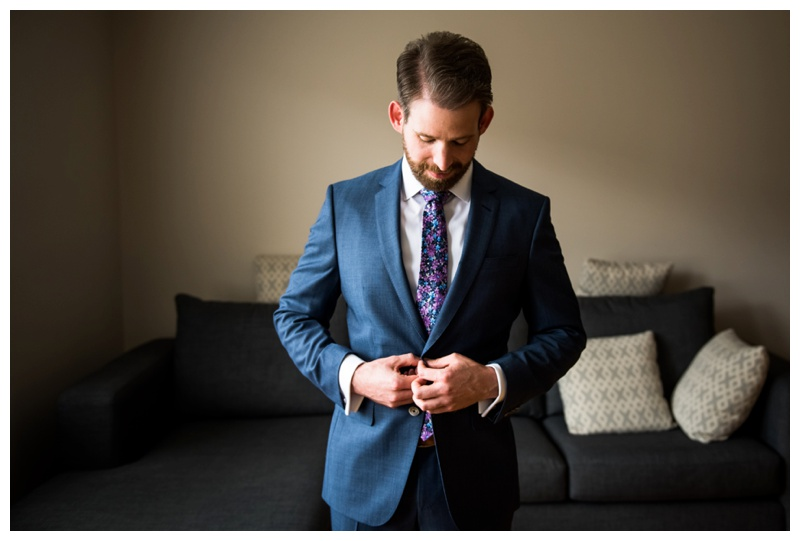 Calgary Wedding Day - Groom Prep