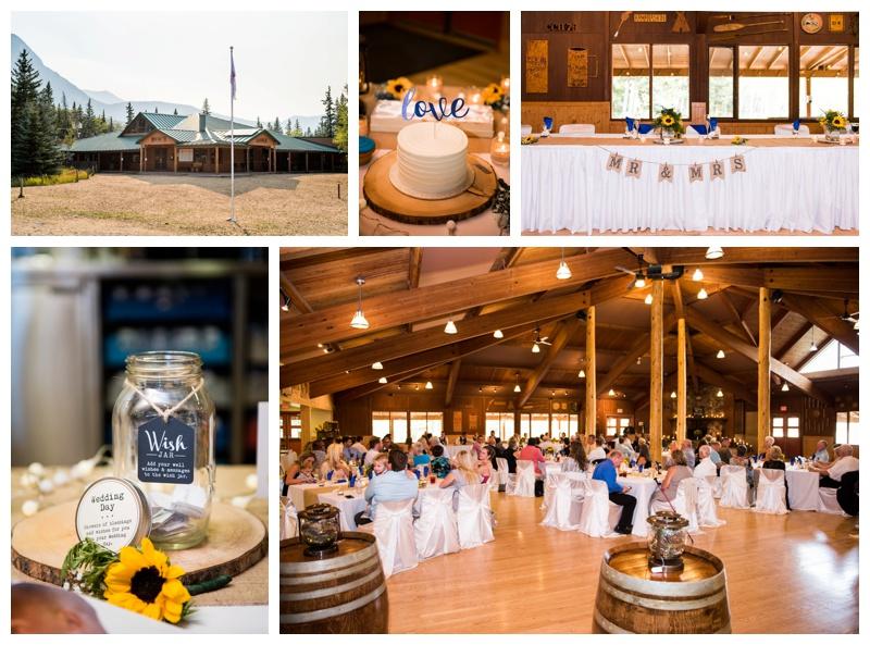 Camp Chief Hector Wedding Reception Canmore