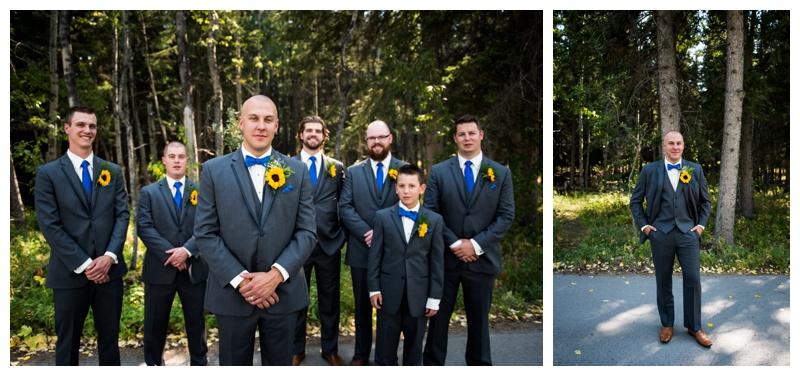 Groomsmen Wedding Photography - Canmore Wedding