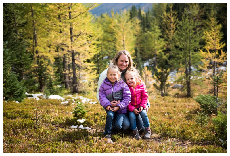 Laurch Tree Family Photography Session - Canmore Alberta