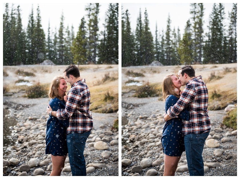 Forgetmenot Pond Engagement Photos Canmore