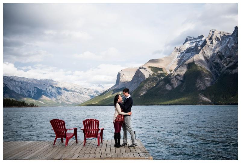 Lake Minniwanka Engagement Session - Banff Alberta