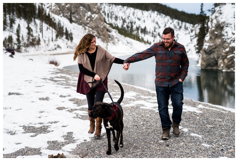 Rocky Mountain Engagement Photos Canmore