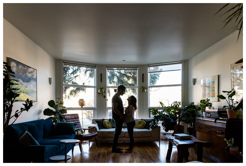 At Home Maternity Session Calgary