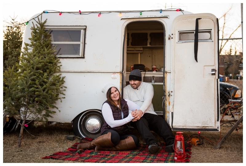Calgary Christmas Engagement Photos