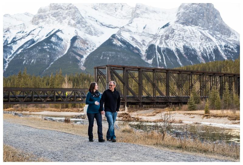 Canmore Iron Bridge Maternity Session