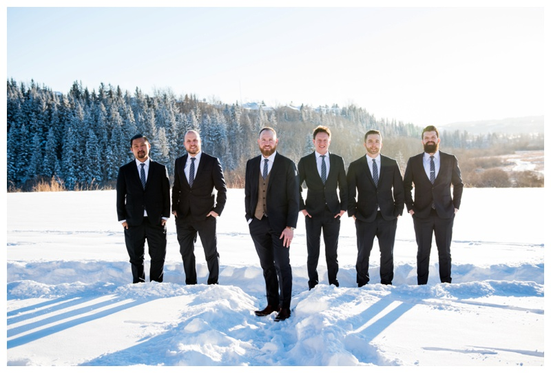 Winter Wedding Cochrane - Groomsmen Attire