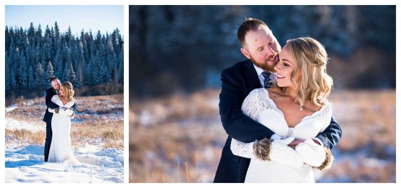 Winter Wedding Photography Cochrane