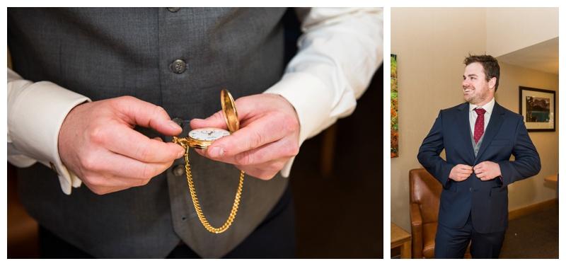 Banff Groom Prep Wedding Photography