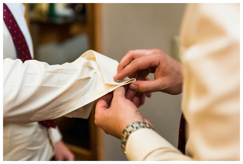 Groom Prep Wedding Photos Banff