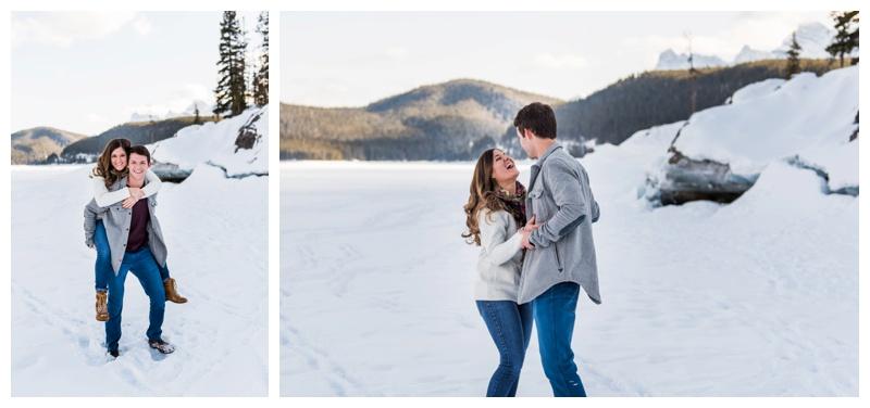 Winter Engagement Photos Banff