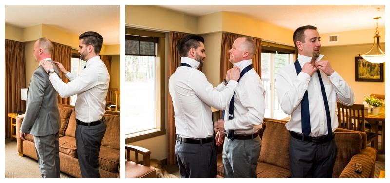 Canmore Wedding Photos - Groom Prep