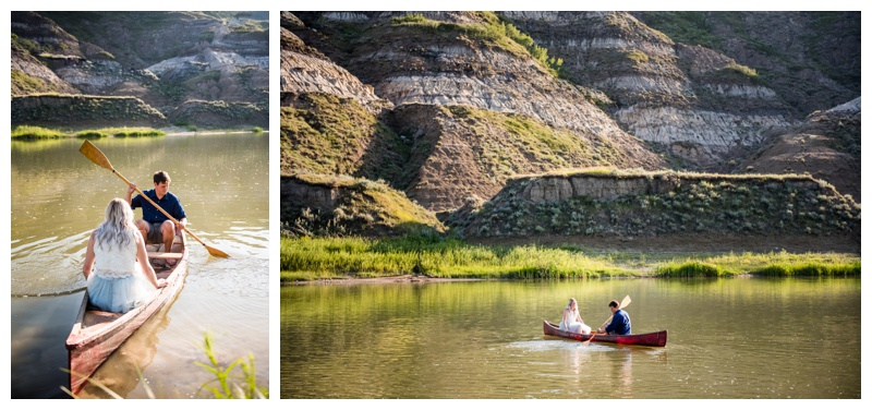 Canoeing Engagement Photos Calgary