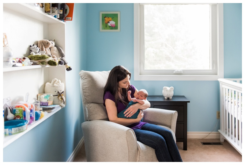 Lifestyle In Home Newborn Photographer Calgary