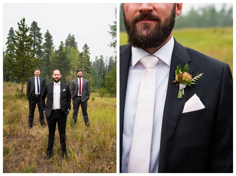 Canmore Wedding - Groomsmen Photos