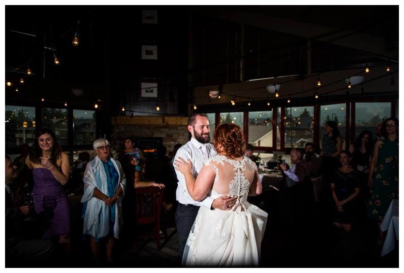 First Dance Wedding Photos - Canmore Wedding Photographer