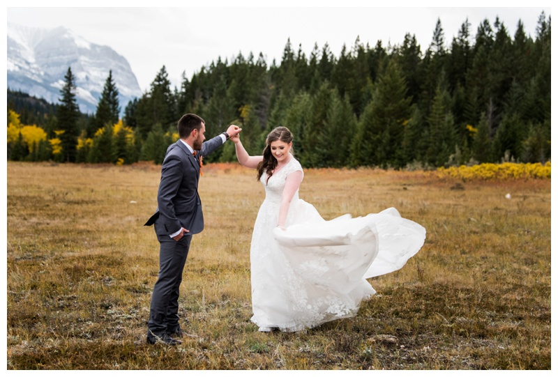 Autumn Mountain Wedding Canmore