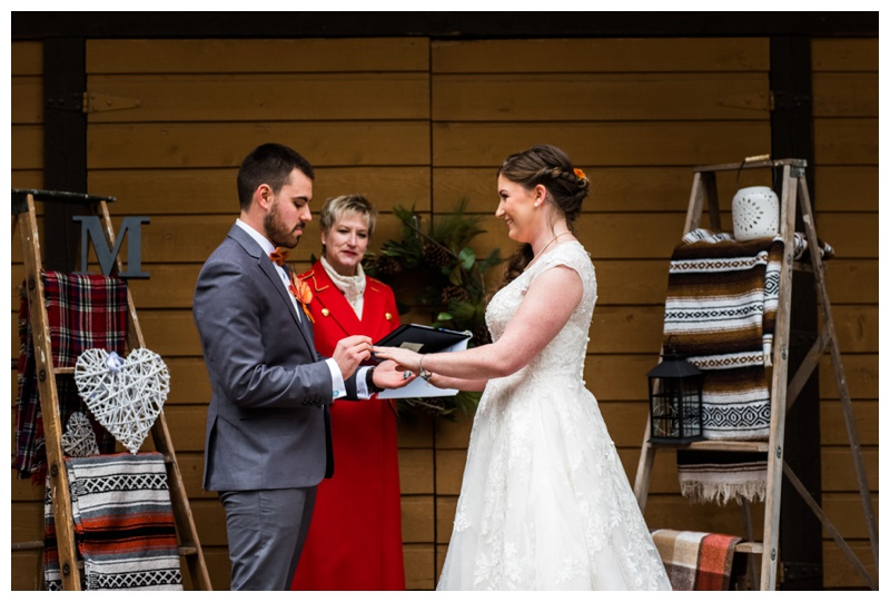 Canmore Autumn Wedding Ceremony