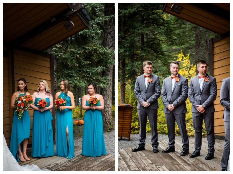 Outdoor Fall Wedding Ceremony - Canmore Alberta