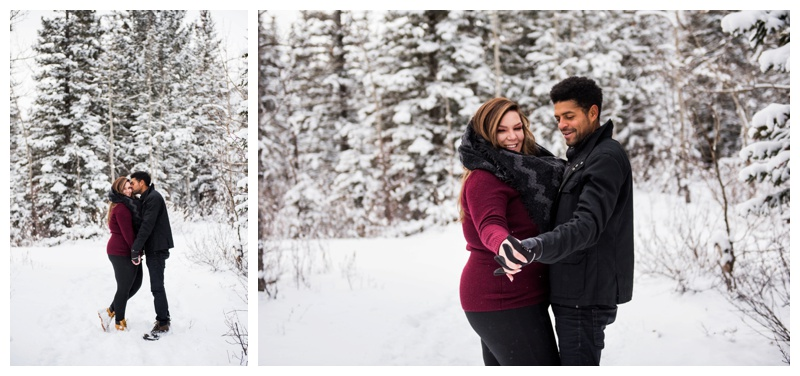 Canmore Winter Engagement Photos