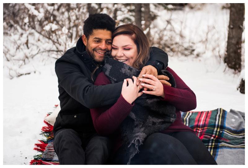 Kananaskis Winter Engagement Session