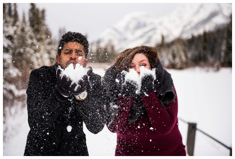 Winter Engagement Photography Canmore Alberta