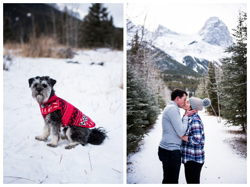Engagement Photos With Dogs - Canmroe Alberta