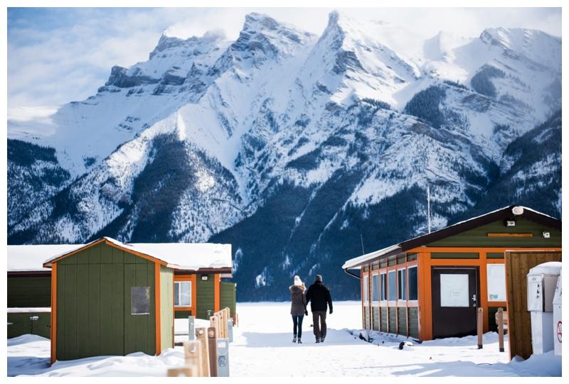 Lake Minniwanka Banff Couple Session