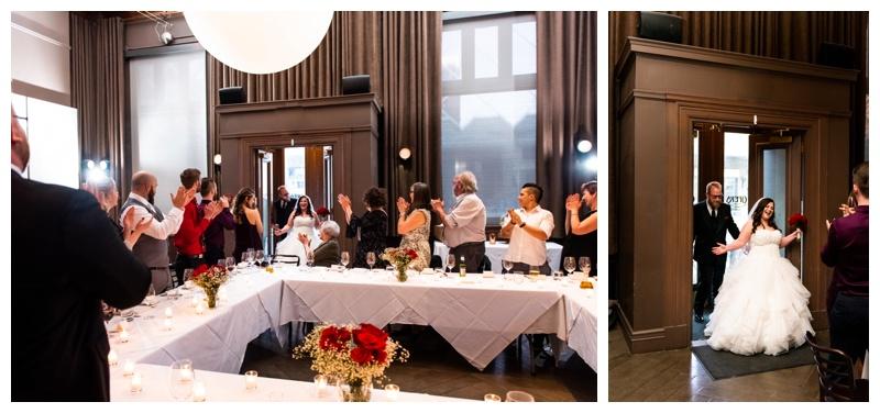 Calgary Teatro Restaurant Wedding Reception Photography