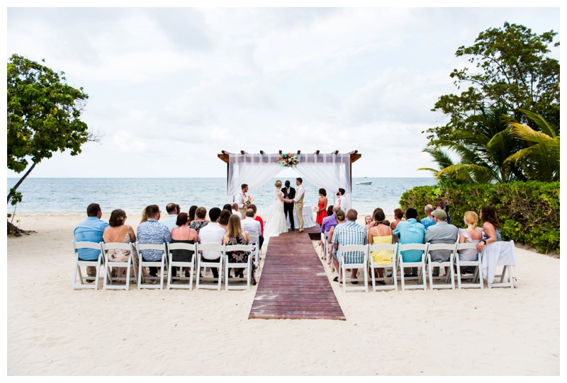Jamaica Iberostar Selection Rose Hall Suites Destination Wedding Ceremony