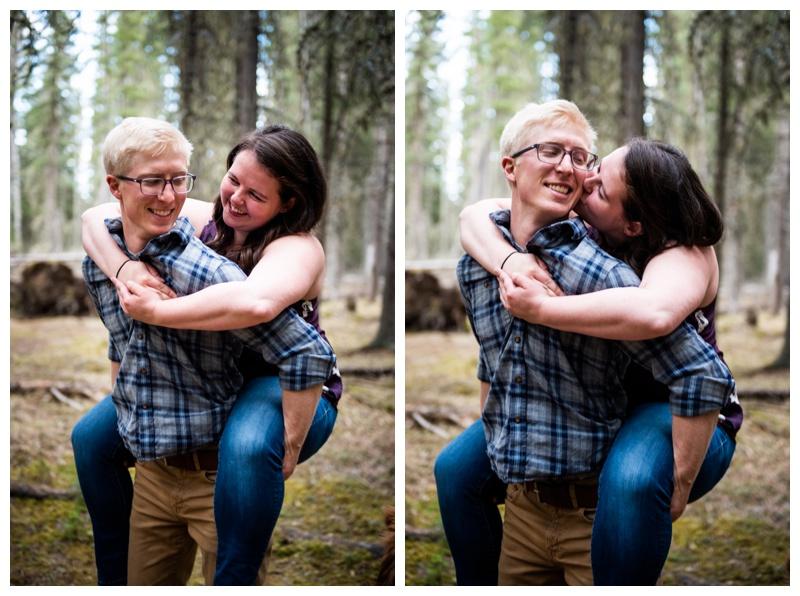 Bragg Creek Provincial Park Engagement Photographer