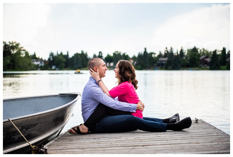 Calgary Lake Bonnavista Couple Photographer