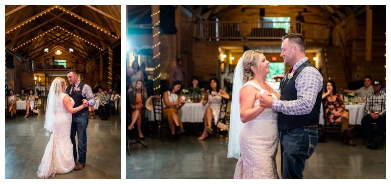 First Dance Photos -Willow Lane Barn Wedding Reception