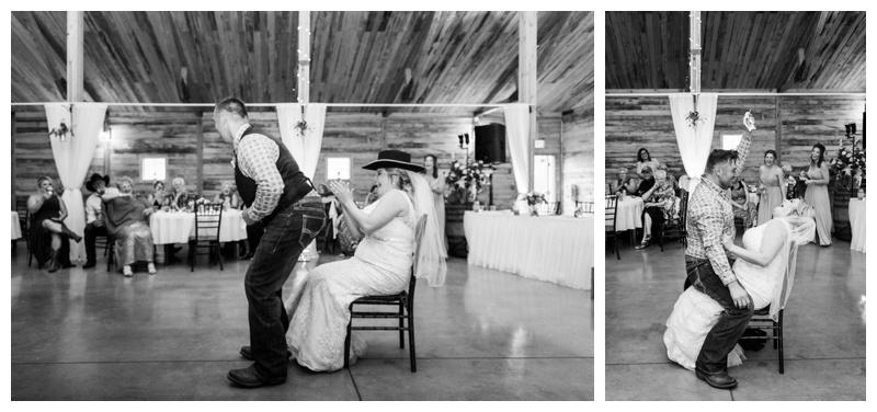 Garter Toss - Willow Lane Barn Wedding Reception