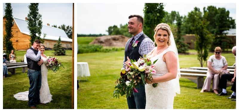 Olds Willow Lane Barn Wedding Ceremony Photos
