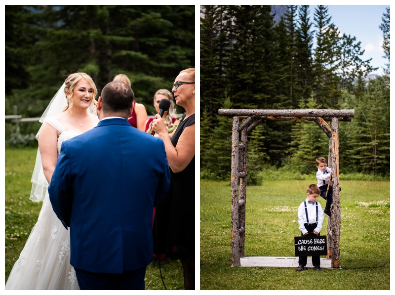 Canmore Ranch Wedding Ceremony Photo - Canmore Alberta