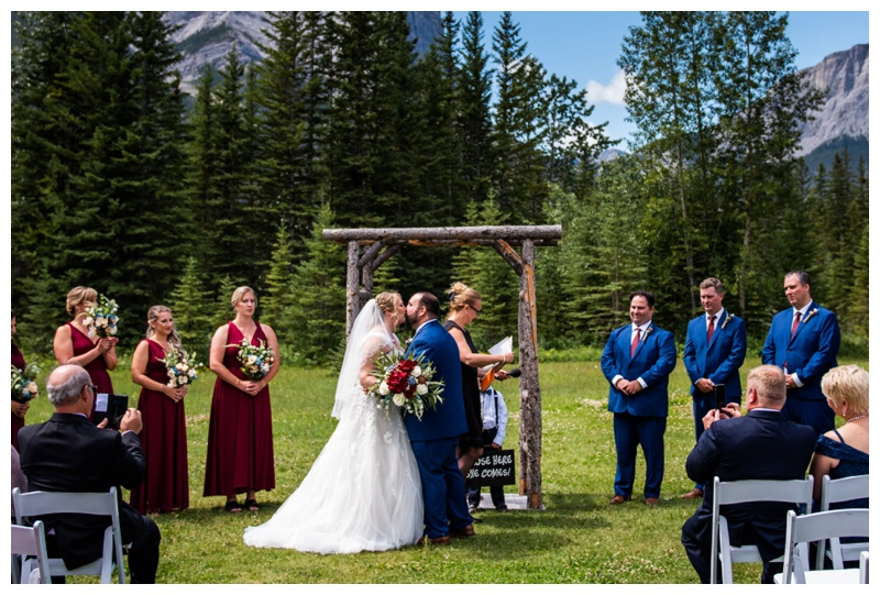 Canmore Ranch Wedding Ceremony Photographer - Canmore Alberta