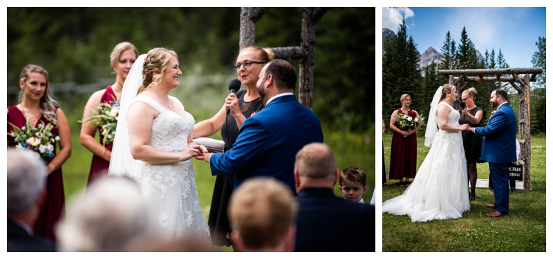 Canmore Ranch Wedding Ceremony Photos - Canmore Alberta