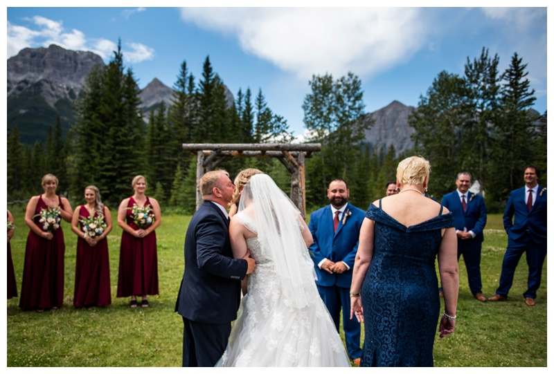 Canmore Ranch Wedding Ceremony Photos