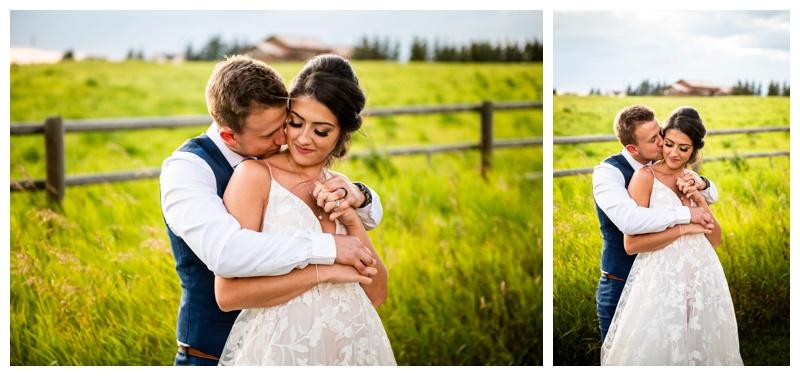 Calgary Alberta Sunset Wedding Photographer