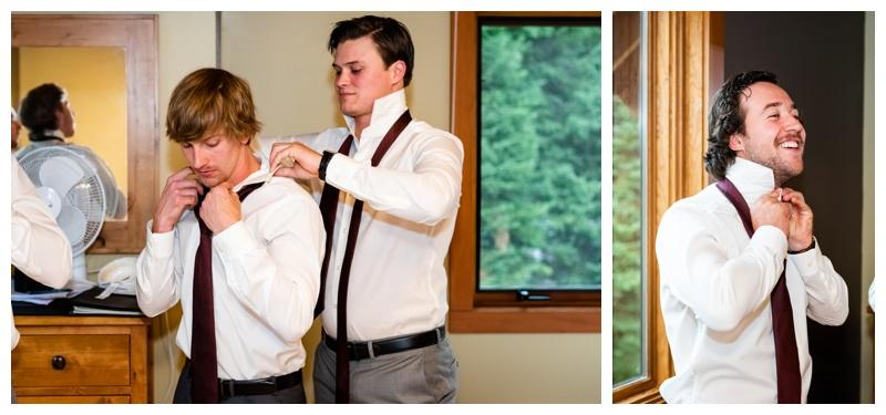 Groom Prep -Island Lake Lodge Wedding