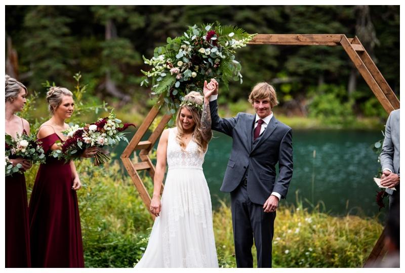 Island Lake Lodge Wedding Ceremony Fernie BC
