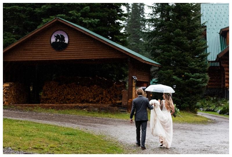 Island Lake Lodge Wedding Fernie BC- Bride & Groom